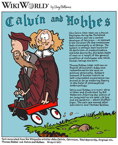 Calvin & Hobbes series by Bill Watterson     So much truth comes from this series Parenthood, friendship, nostalgia, and philosophy, all wrapped in a beautiful sarcastic ball  http://www.biography.com/people/bill-watterson-9525322