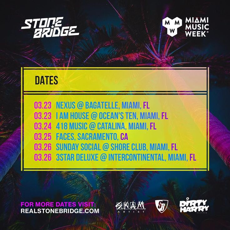 Awesome Miami Music Week this year - showing Cali some love in the middle, gotta be done ;-) #stonebridge #tour #mmw #skamlife #skamartist