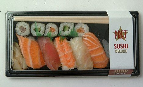 Pret a Manger's 'spankingly fresh' sushi shipped 7,000 miles from Chile