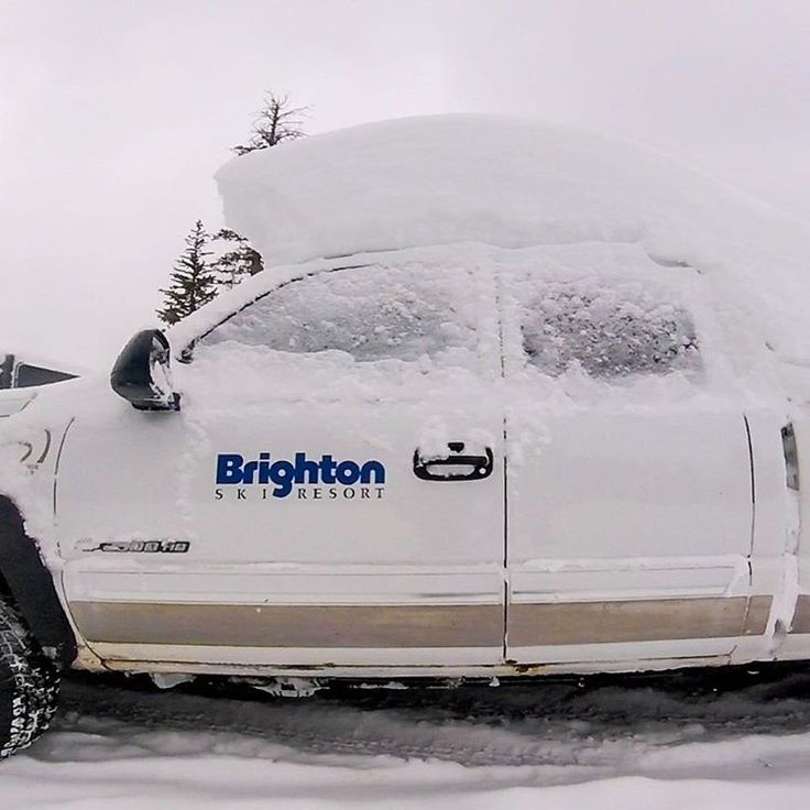 What your truck looks like in the morning after working a graveyard shift. #brightonresort