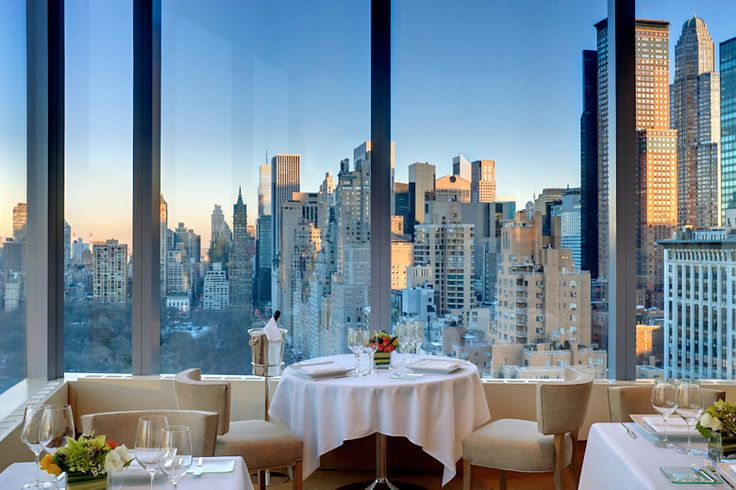 Mandarin Oriental NYC. Dined here, at this very table on my 30th birthday (during my honeymoon at Xmas!). Great experience, amazing views!