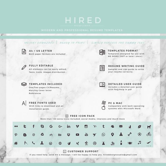 83 best Modern, Professional \ Elegant Resume Templates images on - coupon template for word