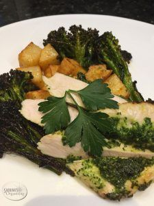 Turkey Breast London Broil with roasted broccoli and potatoes recipe