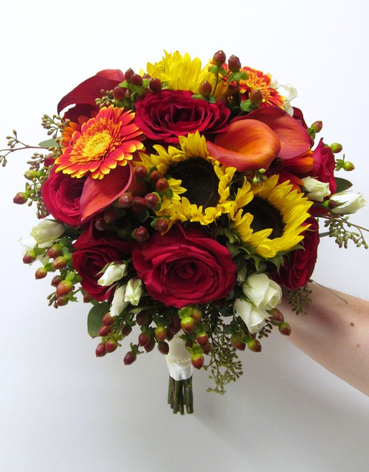 17 best images about wedding ideas i want to use one for Simple fall bridesmaid bouquets