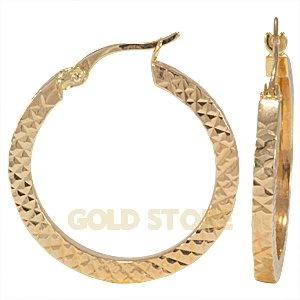 14 Ayar Altın Halka Küpe GE23661