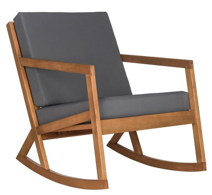 Contemporary with a nod to hand-crafted Shaker individuality, this elegant outdoor rocking chair is destined to become a new American classic. Made from eco-friendly Eucalyptus wood in teak finish, it comes with easy care beige front and back cushions or navy front and back cushions or tan front and back cushions. #TeakPatioFurnitureUseAndCare