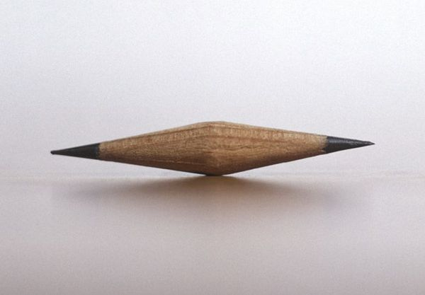 An 'H' grade graphite pencil sharpened at both ends by Kenzee Patterson