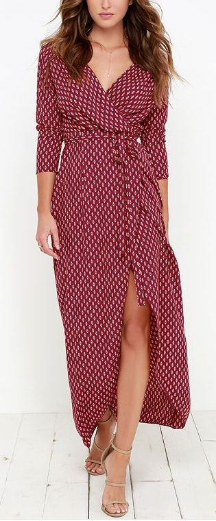 Not sure if a wrap maxi dress would be too top-heavy for me, but maybe it could work?