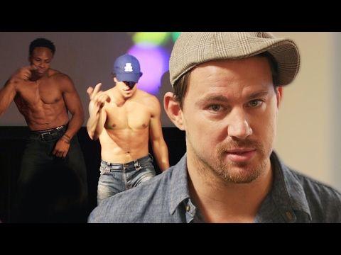 Channing Tatum Dances at Prank Magic Mike XXL Screening // Omaze - YouTube