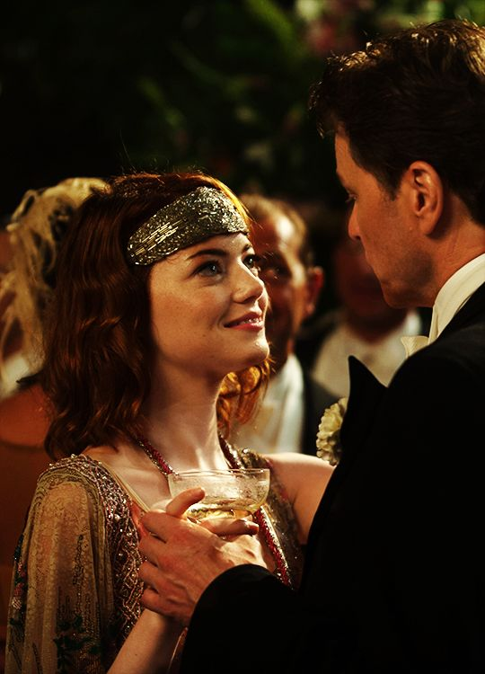 Sophie Baker and Stanley Crawford - Emma Stone and Colin Firth in Magic in the Moonlight (2014).