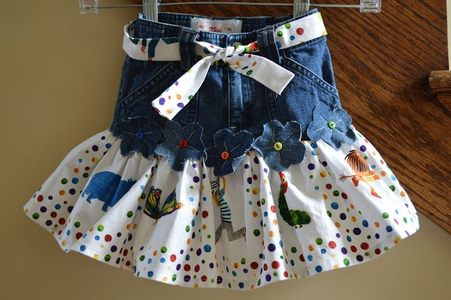 Sew Much To Give: One Ruffle Repurposed Jean Skirt
