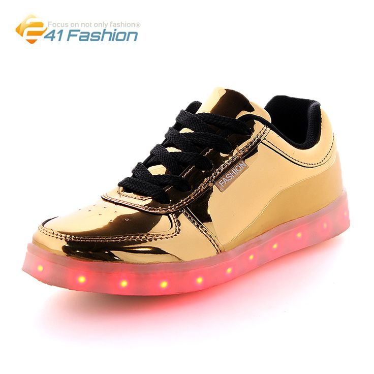>> Click to Buy << 2017 Fashion  Luminous 7 Colors Light Sequins Led Shoes Summer Casual Night Disco Bar Bright Unisex Superstar Shoes Size 36-44 #Affiliate
