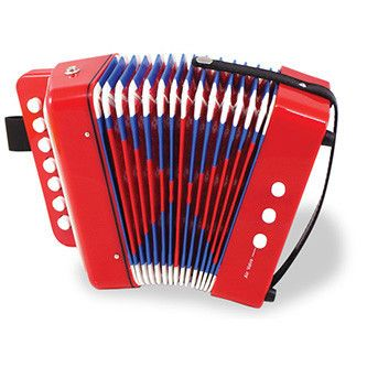 Red Accordion Instrument Music | little citizens boutique