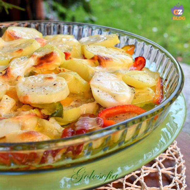 Sformato di patate, peperoni e mozzarella, ricetta semplice