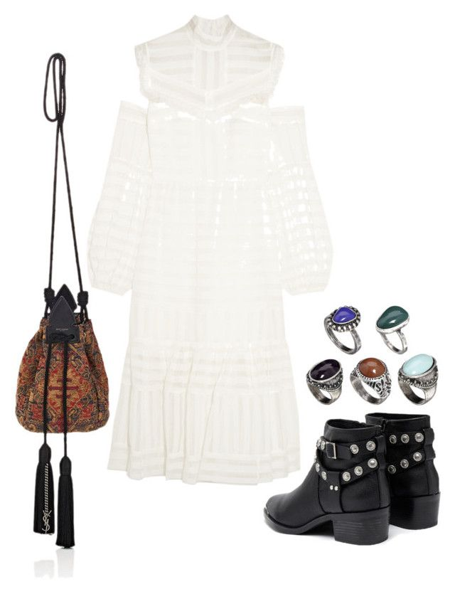 """""""Untitled #620"""" by szudi on Polyvore featuring Erdem, Senso, ASOS and Yves Saint Laurent"""