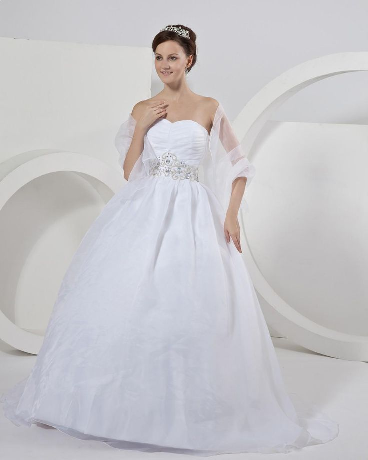Swetheart Organza Bridal Gown Celebrity Wedding Dress