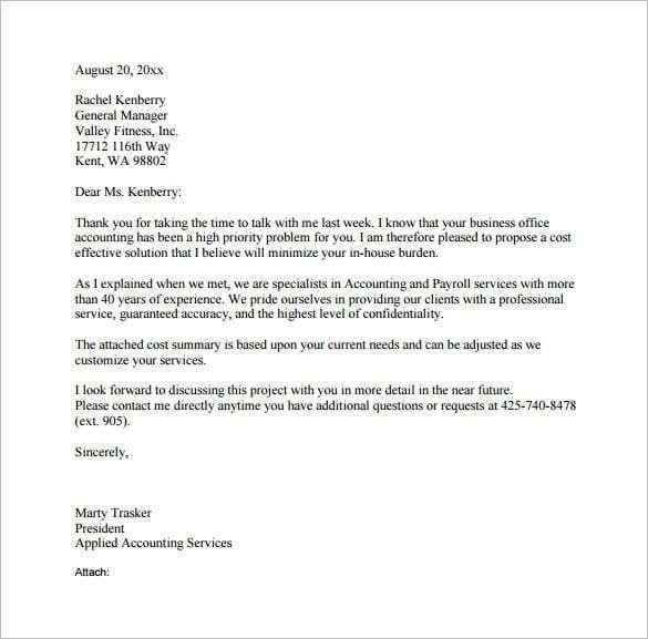 6 Formal Letter Formats Proposal Letter Business Proposal