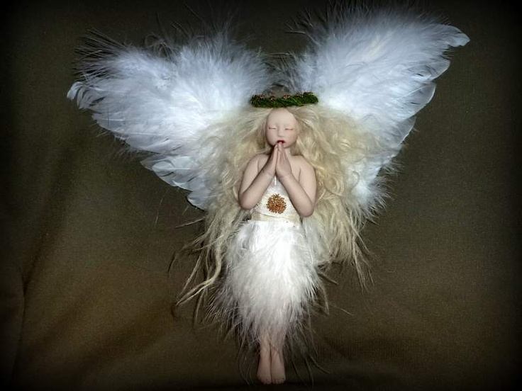 Handmade heirloom Christmas tree angel by Mermaids Dreaming