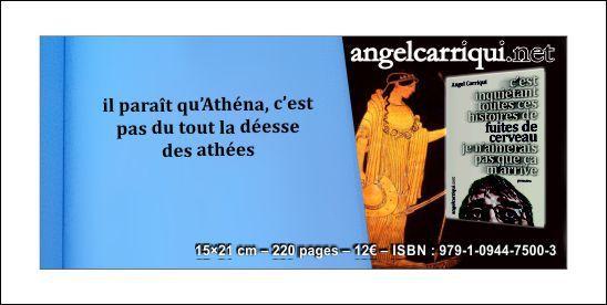 il paraît qu'Athéna, c'est pas du tout la déesse des athées...