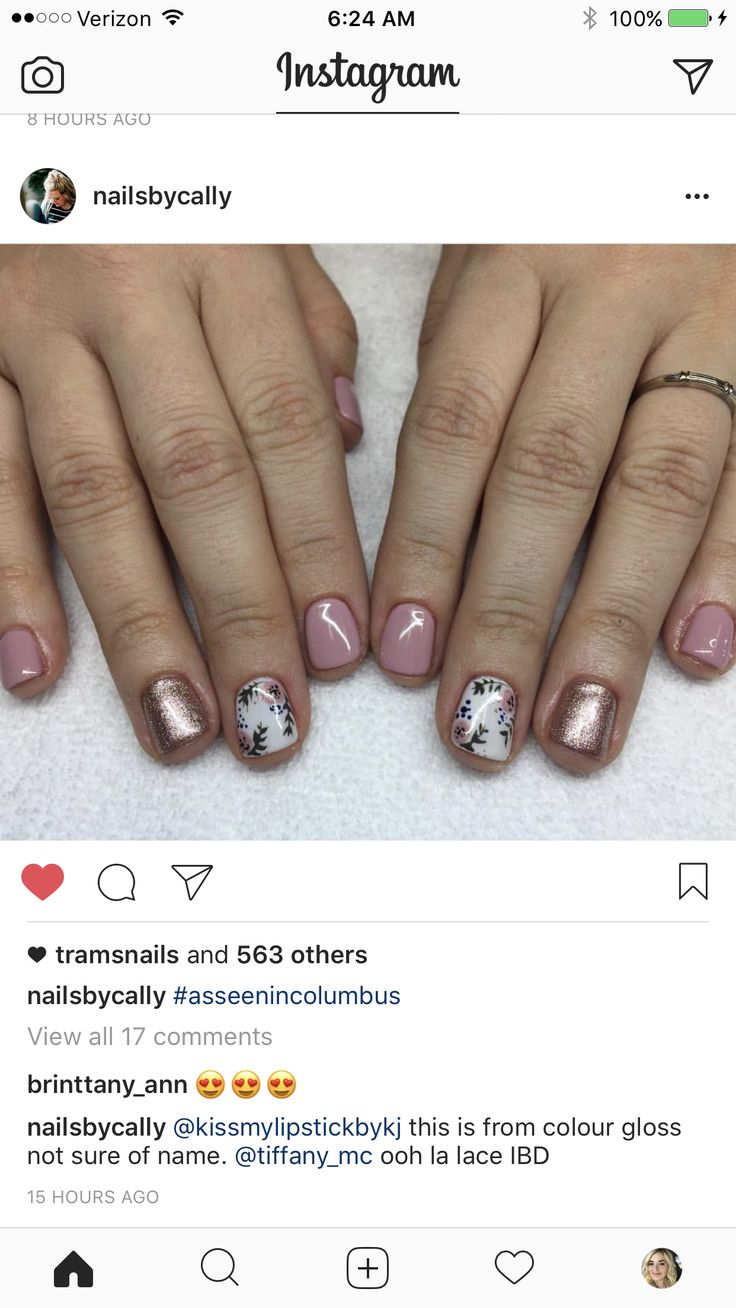 Pretty pink spring nails