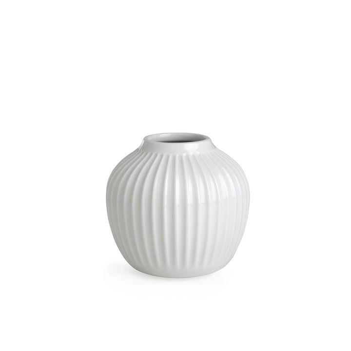 Hammershoi Vase H 12 5 Cm Von Kahler Design In Weiss In 2020 Vase Design Vase Einzelne Blumen