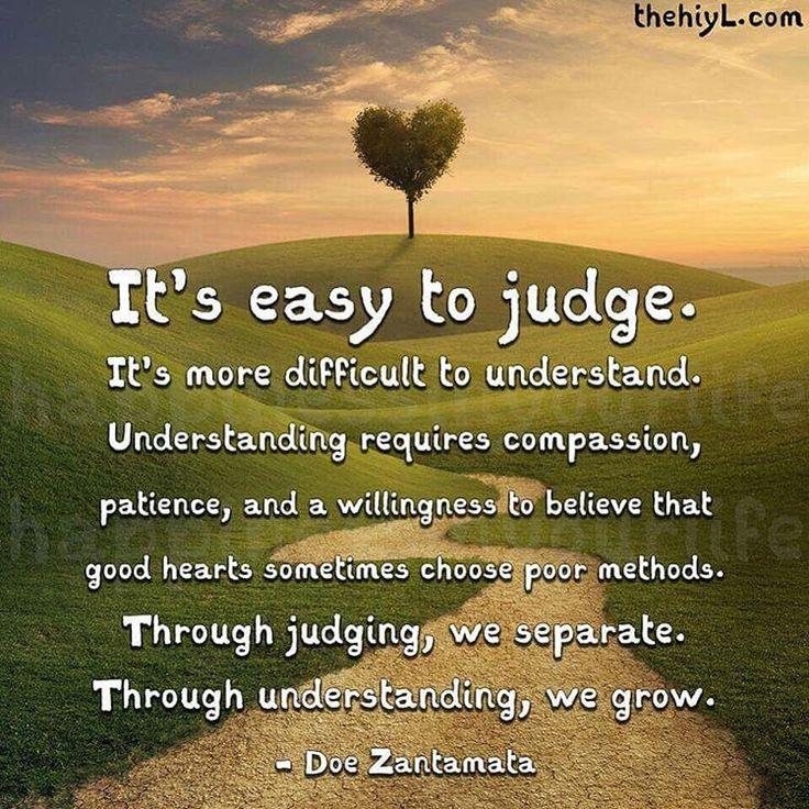 It's easy to judge...