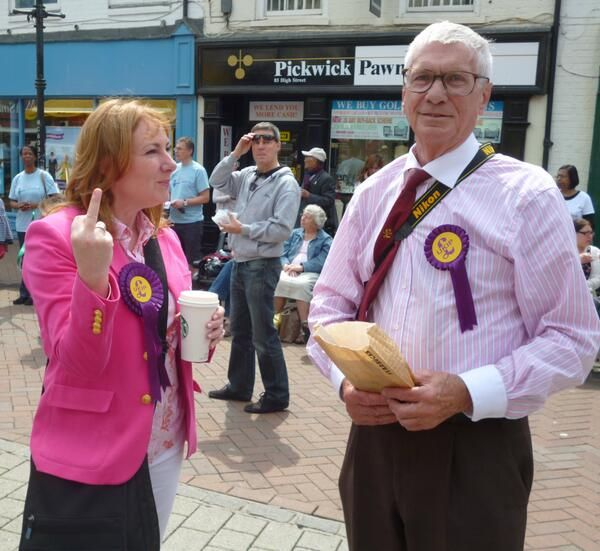 She was only asked about UKIP policies