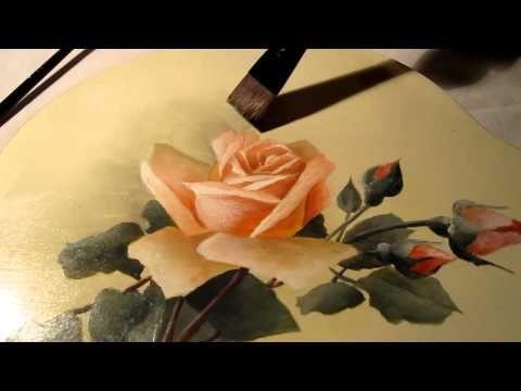Étude de la peinture du style floral victorien - YouTube