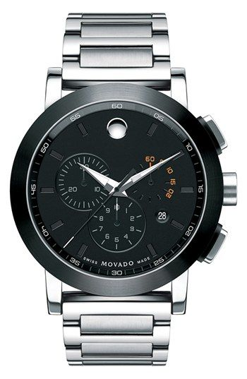 Movado 'Museum Sport' Chronograph Bracelet Watch, 44mm available at #Nordstrom