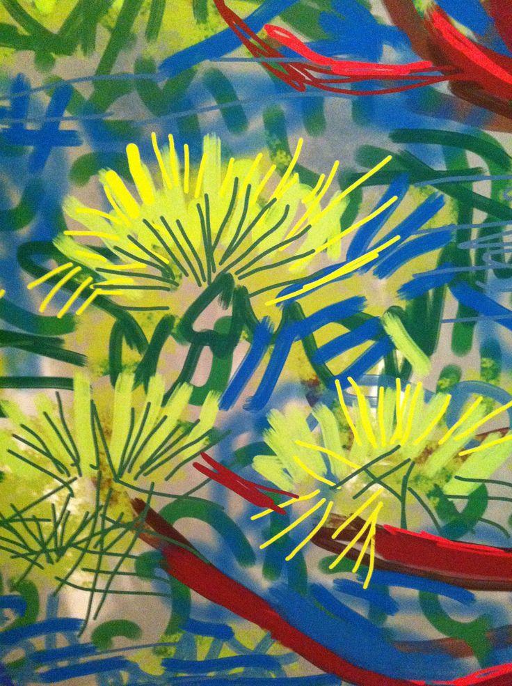 David Hockney, iPad. Photo by me at RA exhibiton 2012