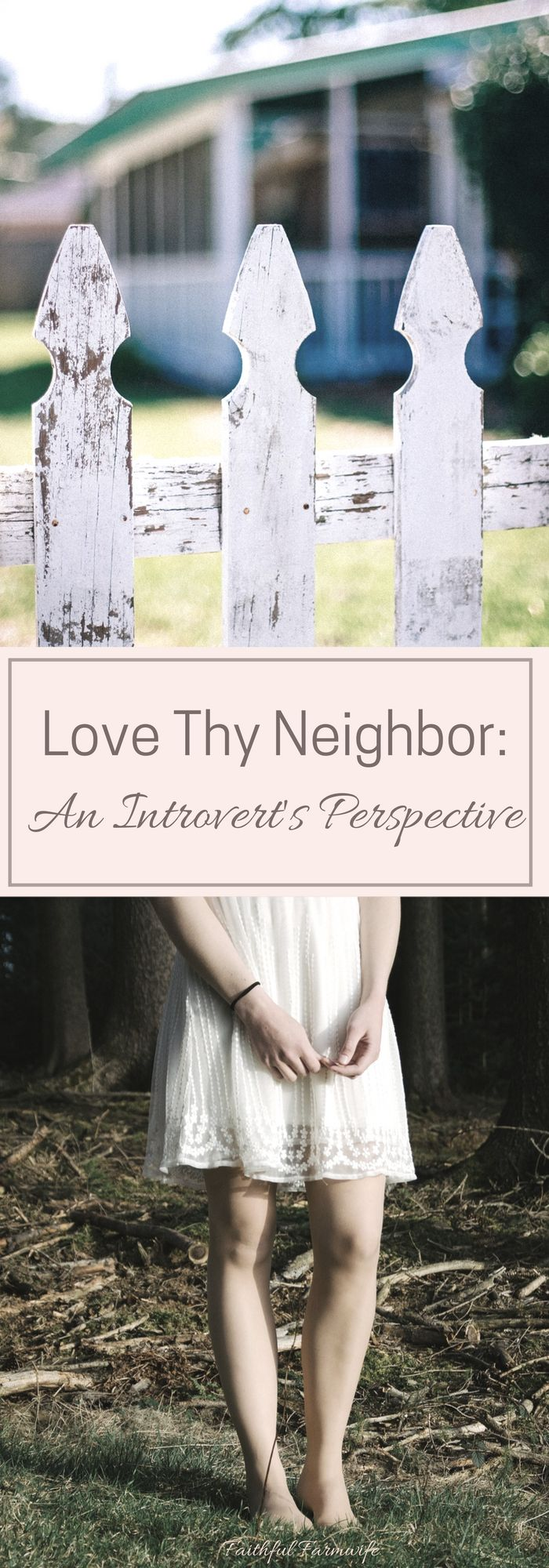 Who is my neighbor? Is it bad for a Christian to be an introvert? How can I serve my neighbor as an introvert? What is holding you back?