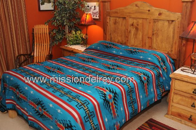 Maricopa Queen - Southwest bedspread.  See our incredible collection of southwest and western bedding, perfect for dressing up a cabin, lodge style or rustic home.  See more at http://www.missiondelrey.com/southwestern-bedspreads/