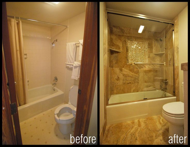Before and after images of bathroom shower remodels - Before and after small bathroom remodels ...