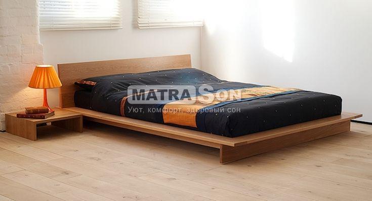 """Кровать-подиум деревянная """"Фиджи"""" Размер: 180x200, Сборка: ольха, Ниша для белья: С 4-мя ящиками на роликах"""