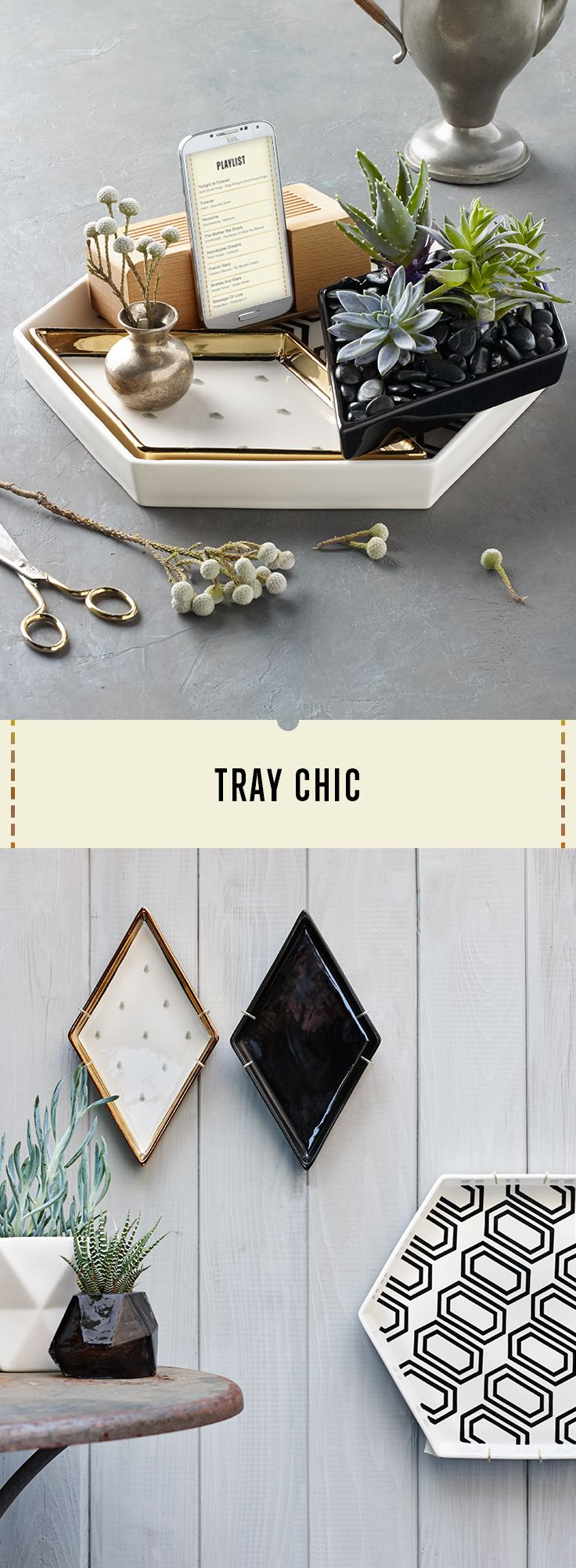 Ceramic trays that make a great focal