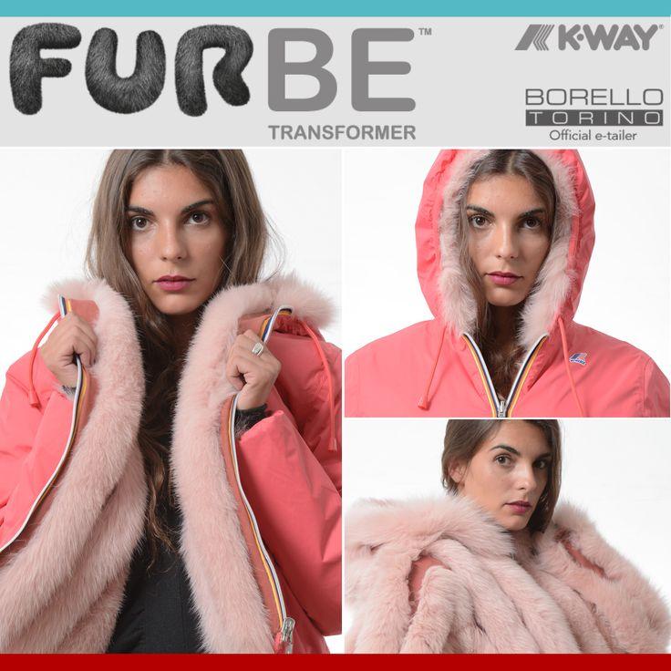 Furbe Transformer by Borello Torino official e-tailer K-way. Reversible K-Way Jacket Trasforma la tua pelliccia in un capo nuovo ed esclusivo #fur #kway #jacket #reversible #winter #fashion #furbe #pelliccia #Torino