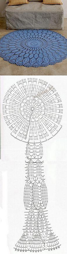 Узор для коврика крючком схема