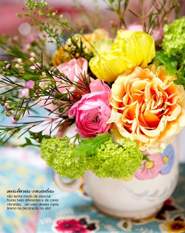 colorful flowers #styling