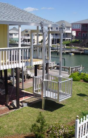 Beach butler cargo lifts melton install 3 story house for Beach house lifts
