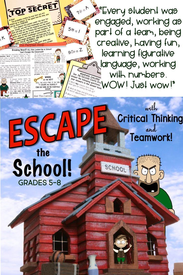 Escape Room Ela Escape The School Comprehension And Writing Activity With Images Middle School Fun Writing Activities Activities