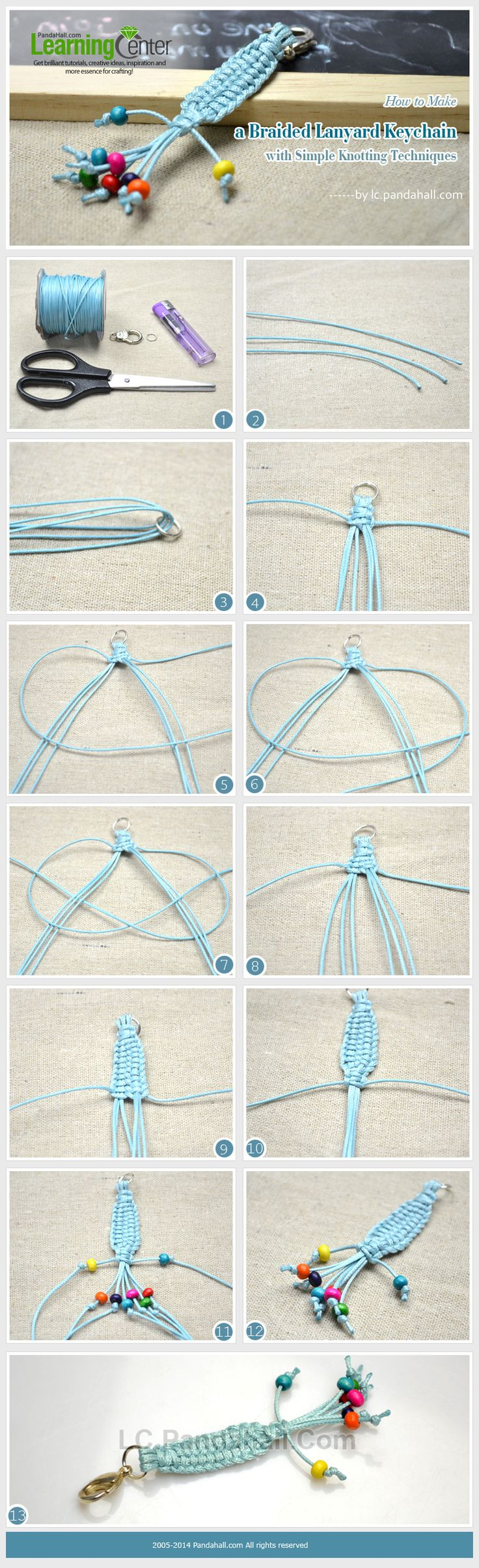 How to Make a Braided Lanyard Keychain with Simple Knotting Techniques