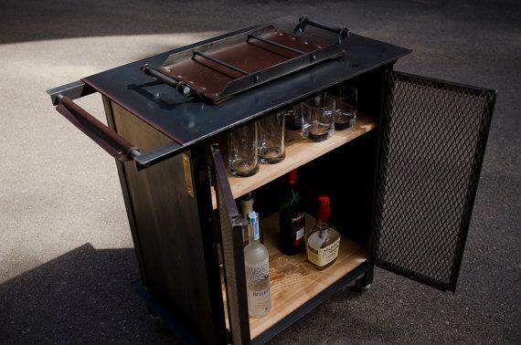 Carro de barra gabinete de licor industrial  Weld