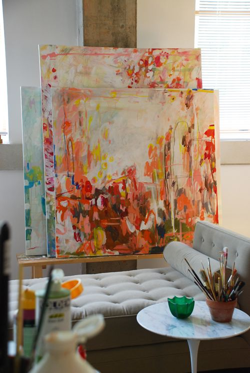 Michelle Armas' studio. #art