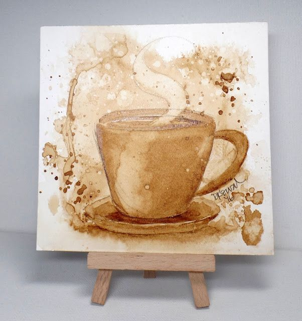 25 best ideas about coffee painting on pinterest galaxy for Painting with coffee grounds