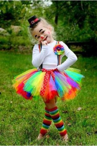 clown halloween tutu costume set by tutusbycheri on etsy 4000 diy halloween costumes diy kids - Halloween Costumes Diy Kids