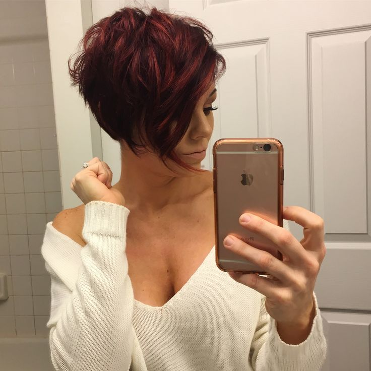 #shorthair #redhair #pixie