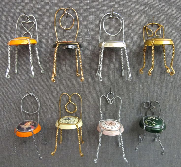 Champagne  Wire Chair Collection....Make these adorable chairs and remember the events each are from.