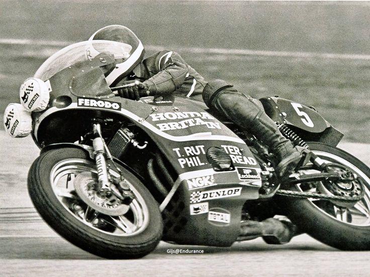 Tony Rutter.Honda RCB.Bol d'Or 1977.