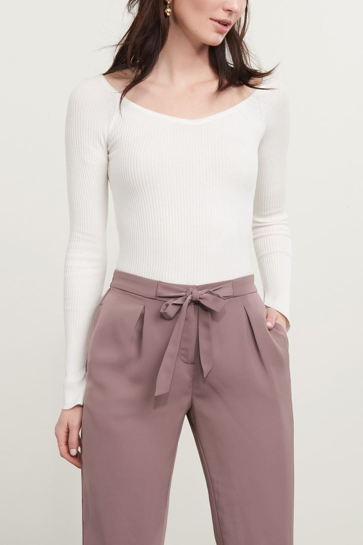 Boss with a bow Satin Jogger Pant with Knit Cuff