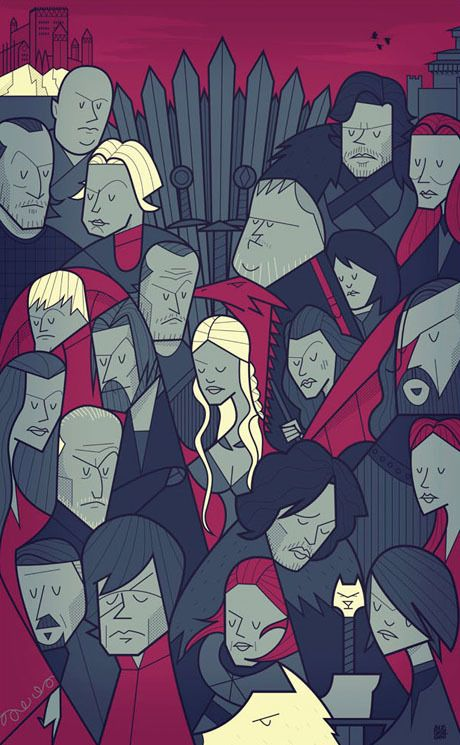 Movie themed illustrations by Ale Giorgini Game of Thrones #got #gameofthrones #juegodetronos